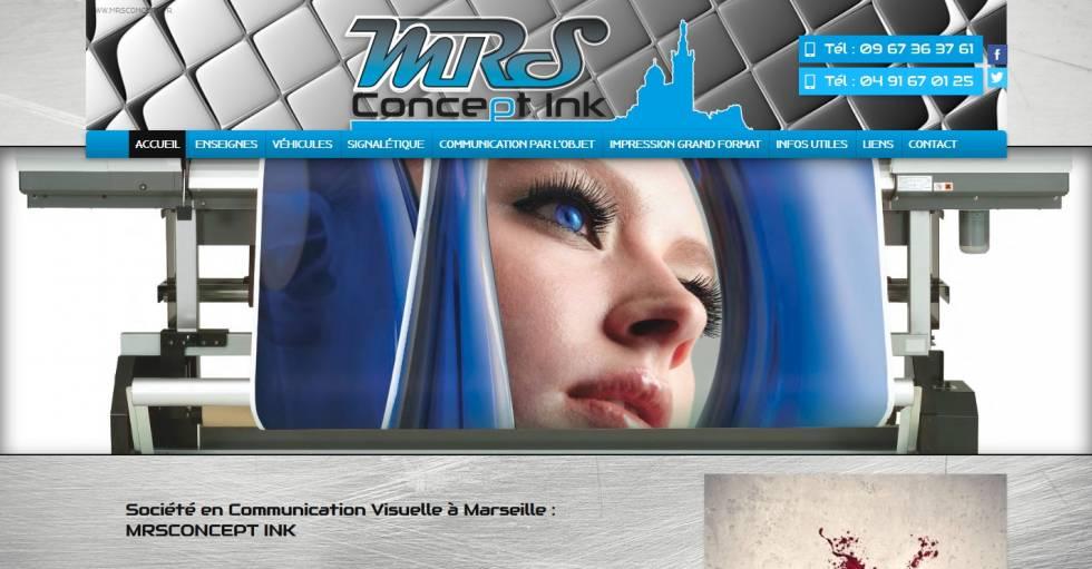 Soci t en communication visuelle 13012 mrs concept ink for Pancarte exterieure publicitaire